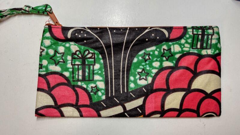 African Handmade make-up bag/ wallet/eyeglass case