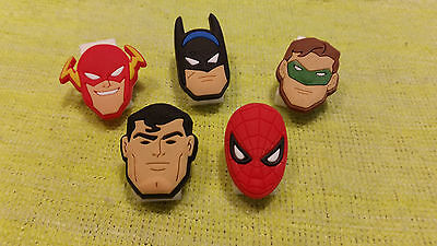 SUPERHERO Bookmark/Paper Clips (lot of 5)!! FAST USA SHIPPING!!