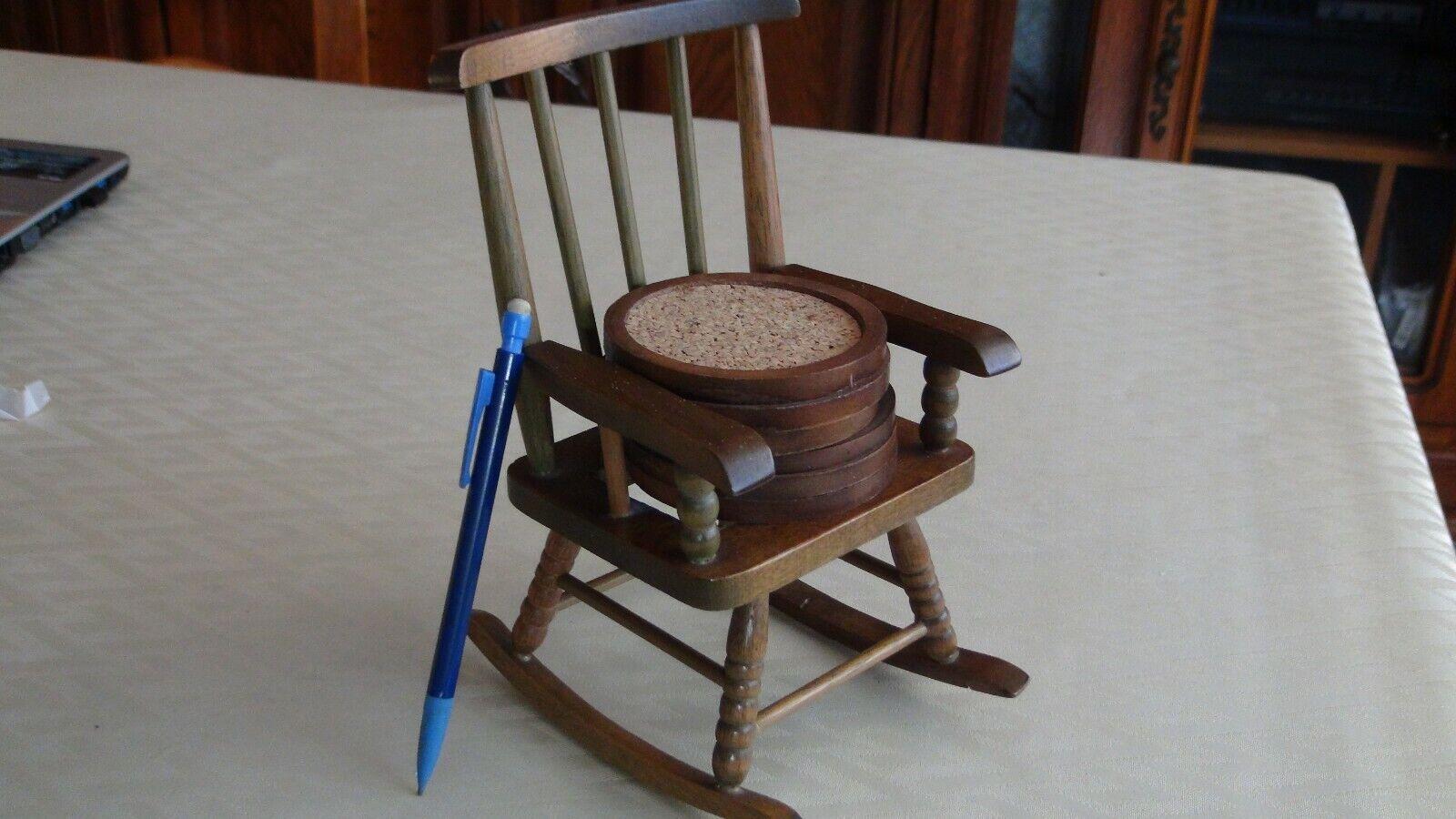 Dessous de verre chaise à bascule en bois