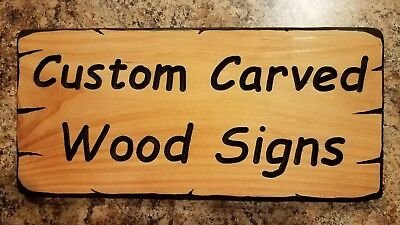 Custom Carved Wood Signs - Made To Order - Your Name or Text - Solid Cedar