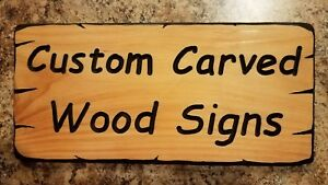 Custom Carved Wood Signs - Made To Order Your Text - CEDAR - 12