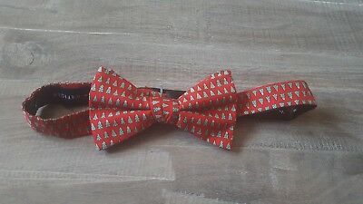 Tommy Hilfiger Mens Bow TIe Christmas Tree Red Green NWOT