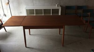 Mid-century teak furniture- dining set, chair, sofas