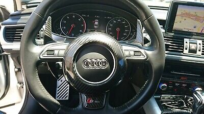 Fits Audi RS3 RS4 RS5 RS6 RS7 Models Carbon Fiber Steering Wheel Center Cover
