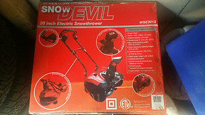 "Snow Blower, electric 20"" 120v, 13 Amp"