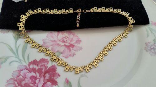 Art Deco zierliche Kette Collier 38 43 cm Americ Gold Double