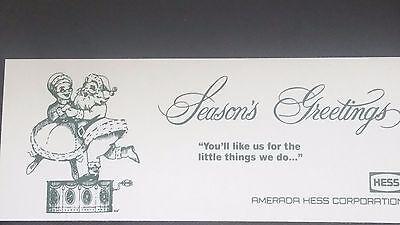 Amerada Hess 67 / 69  / 70   SEASONS GREETINGS CHRISTMAS TIME COLLECTIBLE CARD