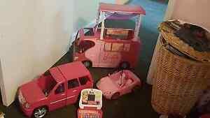 Barbie camper van, Jeep, sports car and lap top Heathridge Joondalup Area Preview
