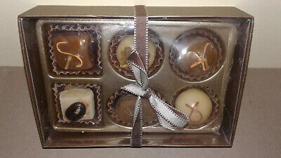 Yankee Candle 6 CHOCOLATE TRUFFLE Candy Tealight Candles Gift Box Set