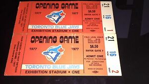 First ever Toronto blue Jays tickets 1977