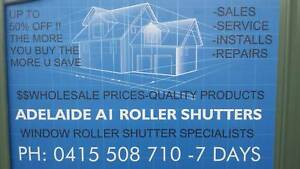 ROLLER SHUTTERS -OUTDOOR BLINDS- AWNINGS   fr. $199-00