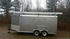 16 ft Streamline, arrow nose trailer, dual axle, covered