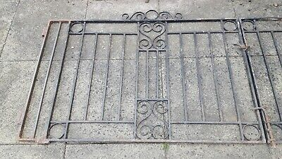 WROUGHT IRON GATES 116.25 Inches Wide x 37 Inches High