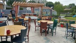 Restaurant quality tables & chairs