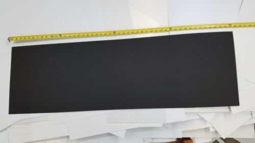 """BLACK KYDEX PLASTIC SHEET .030"""" x 15"""" x 48"""" HAIRCELL FINISH THERMOFORMING"""