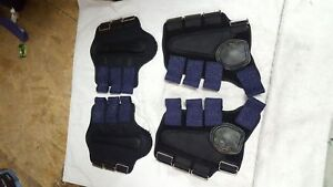Set of full size splint and rear skid boots