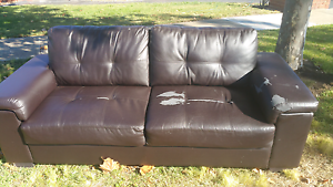 FREE  Leather 3 seater couches Hillside Melton Area Preview