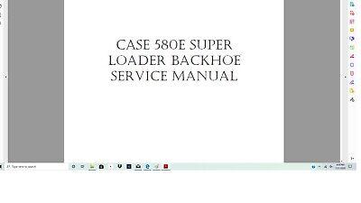 Case 580 B Construction King Loader Backhoe Service Manual