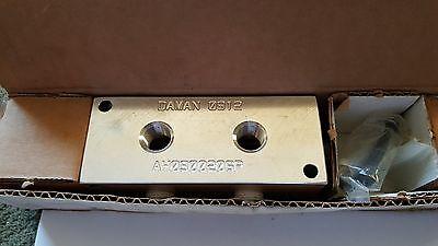 Nib Daman Products Ah0900206p Aluminum Header Block 1e1133