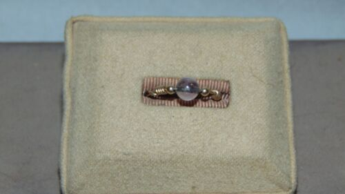 GOLD TONE DOUBLE WIRE RING WITH GLASS BEAD SIZE 8