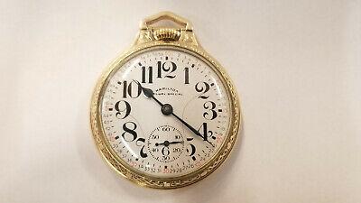 Hamilton 992B 21 Jewel Railway Special 10K Gold Filled Pocket Watch 1960