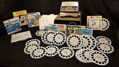 VINTAGE GAF VIEW MASTER THEATER PROJECTOR, VIEWER, AND SLIDES