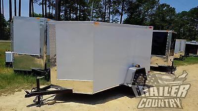 New 2021 5 X 8 5x8 V-nosed Enclosed Cargo Motorcycle Trailer W Rear Swing Door