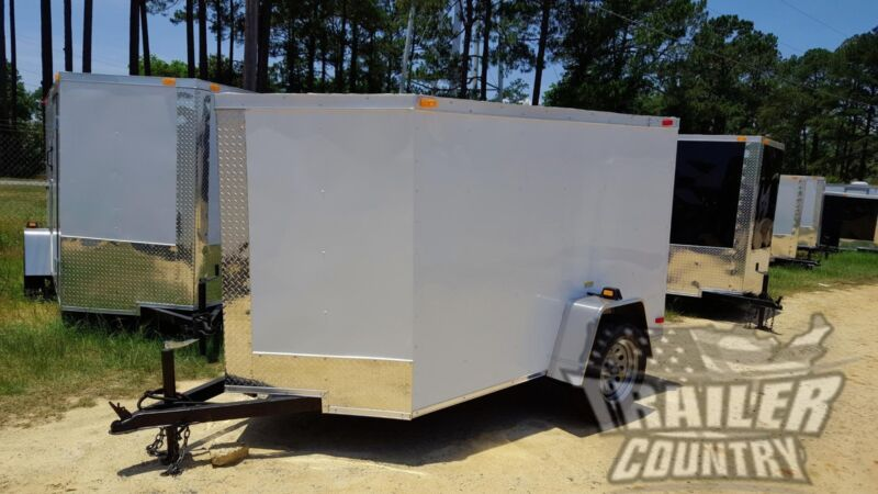 NEW 2020 5 X 8 5X8 V-Nosed Enclosed Cargo Motorcycle Trailer w/ Rear Swing Door