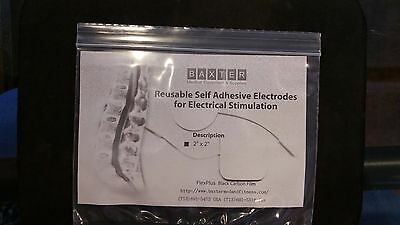Baxter FlexPlus Carbon Gel Electrode 10 packs of 4 for electrical Stimulation