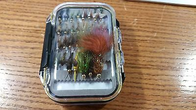 Panfish Trout Crappie 60 Preselected Fly Assortment /& Fly Box Grab Bag