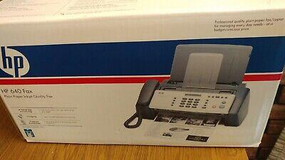 Hp 640 Fax Machine - Plain Paper Inkjet - Cb782a - New Old Stock