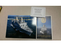 USS Portland LPD 27 Nautical Chart Art Print Painting US Navy Ship Veteran Gift