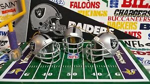 NFL Oakland Raiders Helmet Ornament Set (of 3) from The Memory Company  *NEW*