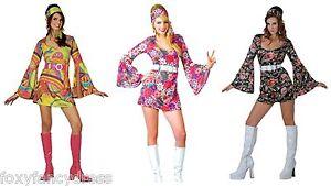 60 s 70 s mujeres retro gogo hippy mini vestido 1960 s 1970 s disfraz