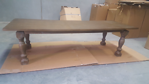 Ex-display 3m  Solid Oak Dining Table Tullamarine Hume Area Preview
