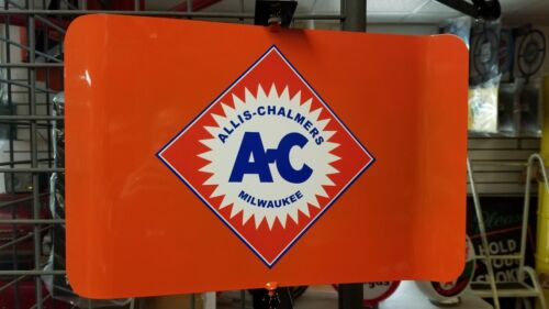 ALLIS CHALMERS AC CLASSIC TRACTOR NOSTALGIC SPINNING SIGN 2 SIDED 2 MESSAGE