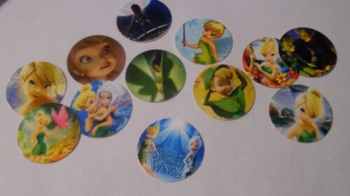 Pre Cut One Inch Bottle Cap Images TINKERBELL  Free Ship