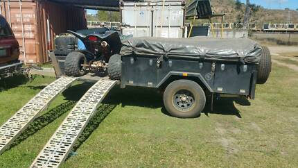 Alpha Camper Trailer with Boat Rack Stuart Townsville City Preview