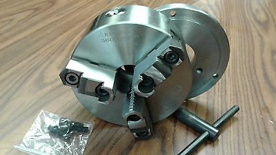 6 3-jaw Self-centering Lathe Chuck Top Bottom Jaws W. D1-4 Adapter Back Plate