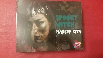 NEW Halloween SPOOKY WITCH Makeup Prosthesis Kit by Face Art