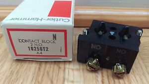 NEW Eaton Yale Cutler Hammer 10250T2 CONTACT BLOCK, 2NO 6A SCREW