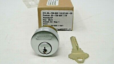 Schlage Primus Level 1 Mortise Cylinder- Satin Chrome 626 - New High Security