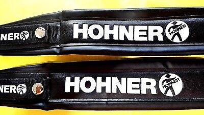 HOHNER STRAPS BRAND NEW COLOR BLACK LETTER WHITE VERY NICE