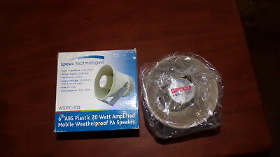 New Speco Aspc-20 Amplified Pa Horn 05-016-0875-48-002 Free Shipping