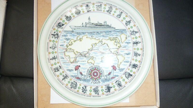 "Around-The-World Cruise 1968 Flagship ""Rotterdam"" in Box Commemorative Plate"