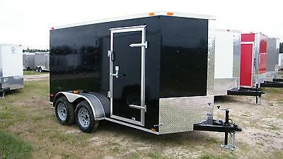 Owner 6X12 Enclosed Trailer Cargo Tandem V Nose 14 Utility Motorcycle 7 Lawn 2019