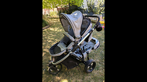 Steelcraft Strider Plus double pram Heidelberg Banyule Area Preview