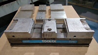 Toolex Double Station Vise With Machinable Soft Jaws 6 Vise