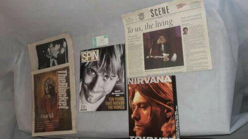 Nirvana, 1992 Seattle Center Ticket Stub,Nirvana Tribute, 2 Rocket Cobain Cover+
