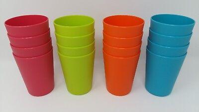 4 x EDGO Dineit Plastic Cups Pastel Colours Party Event Picnic BBQ Buffet Cheap! - Cheap Colored Paper Plates